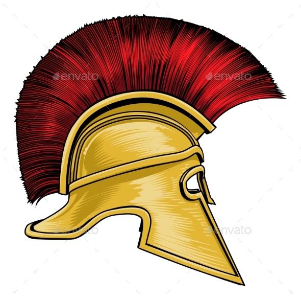 Spartan Ancient Greek Gladiator Warrior Helmet By Krisdog Graphicriver
