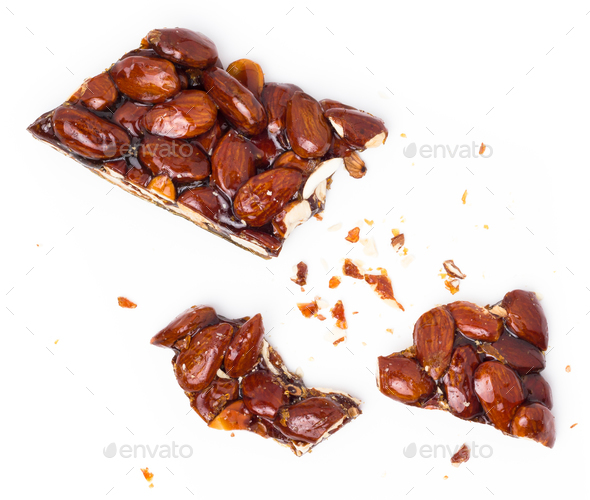 Caramelized almonds - Stock Photo - Images