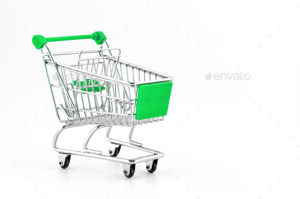 Small metal shopping cart - Stock Photo - Images