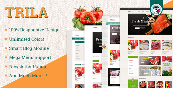 Image of JMS Trila - Responsive Fresh Food Prestashop Theme