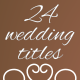 24 wedding titles - VideoHive Item for Sale