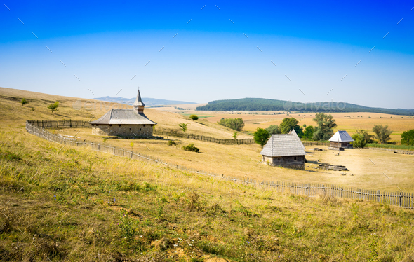 old Dacian village - Stock Photo - Images