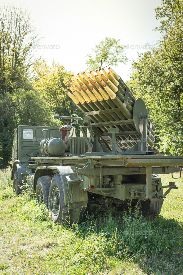 Truck with rockets - Stock Photo - Images
