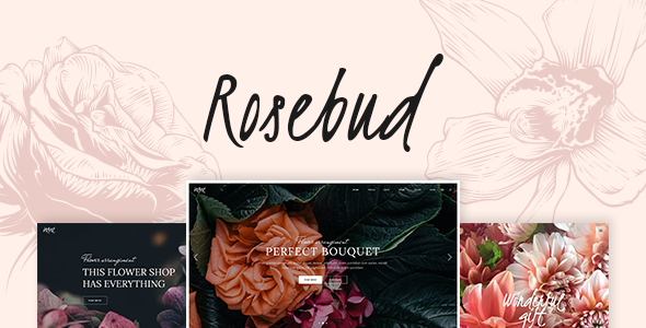 Rosebud - A Flower Shop and Florist WordPress Theme