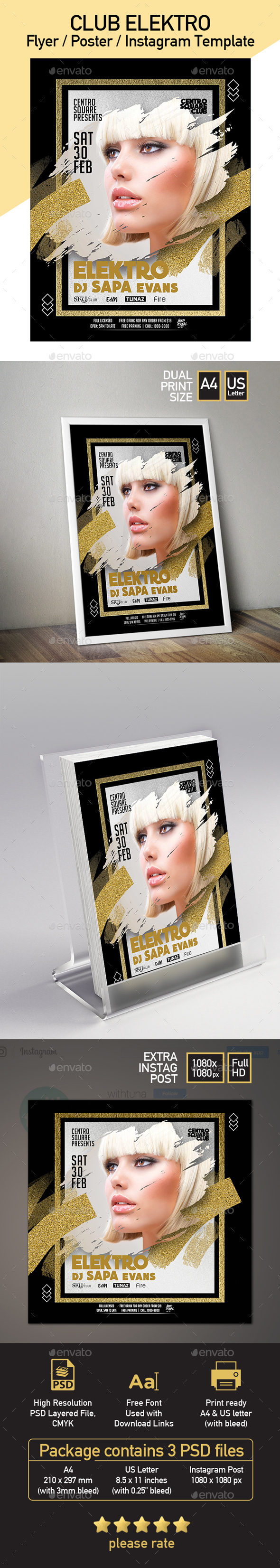 Party Fashion Poster Template - Clubs & Parties Events