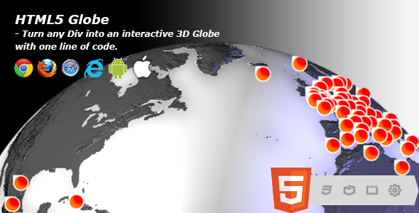3D HTML5 Globe Earth - CodeCanyon Item for Sale