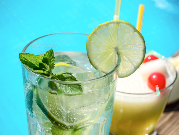 Beach cocktails - Stock Photo - Images