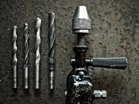 Old drill - Stock Photo - Images