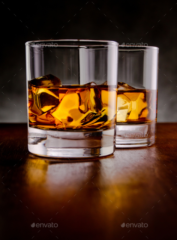 Two whiskeys - Stock Photo - Images