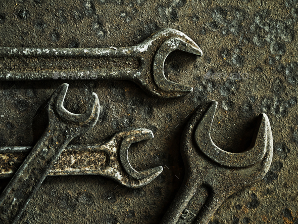 Old wrenches - Stock Photo - Images