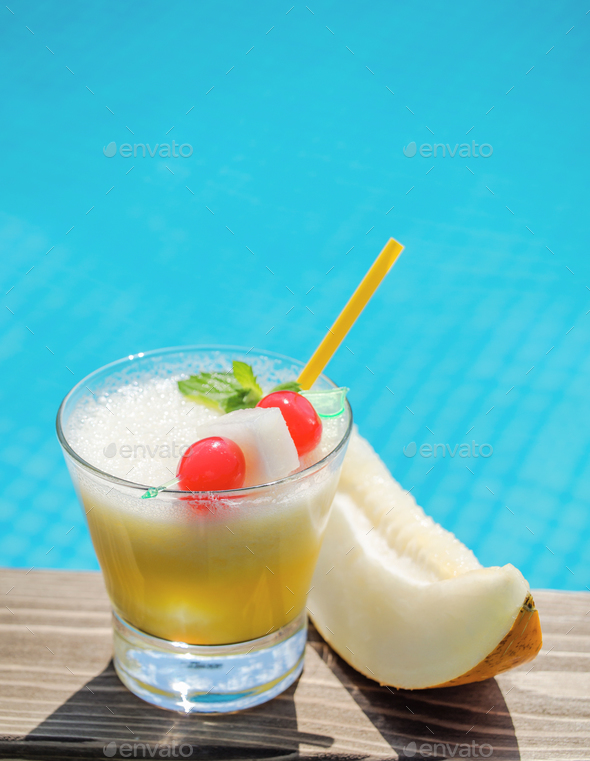 Beach melon cocktail - Stock Photo - Images