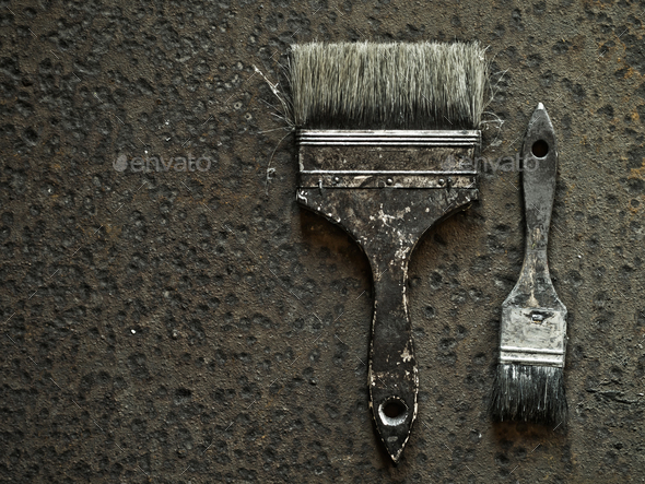 Old brushes - Stock Photo - Images