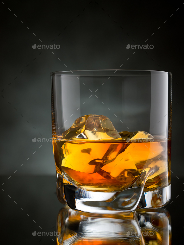 Whisky on the rocks - Stock Photo - Images