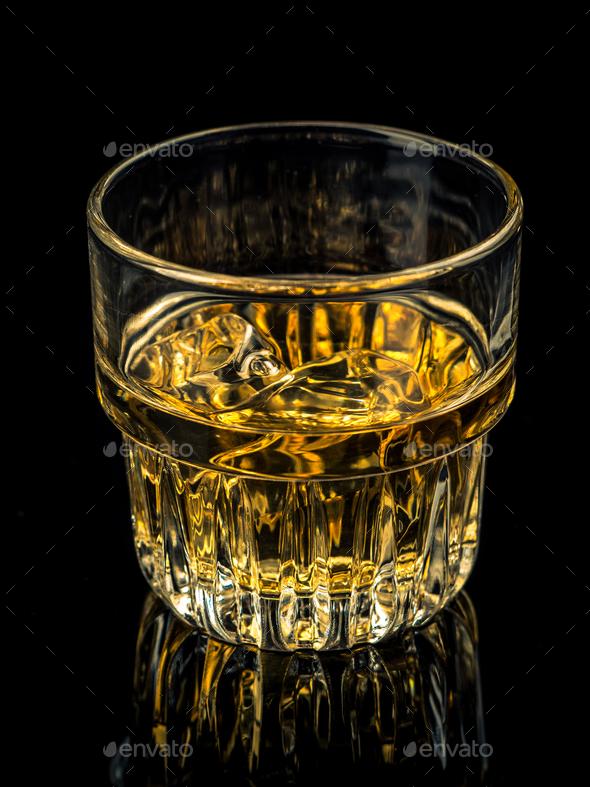 Whiskey on the rocks - Stock Photo - Images