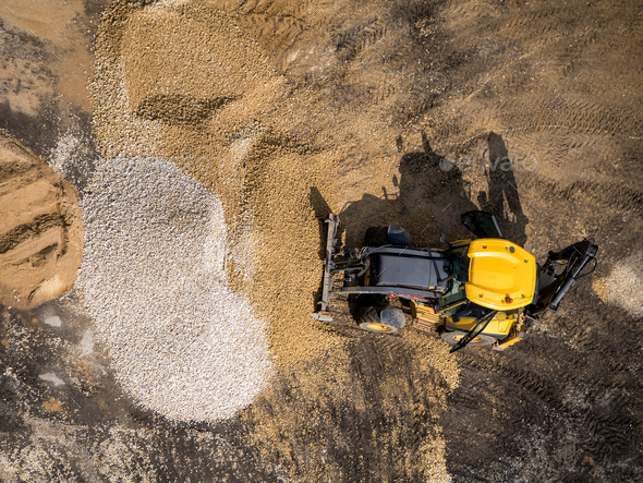 Wheeled loader at construction site - Stock Photo - Images