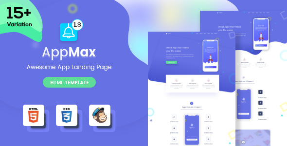 Image of Awesome App Landing Page - AppMax