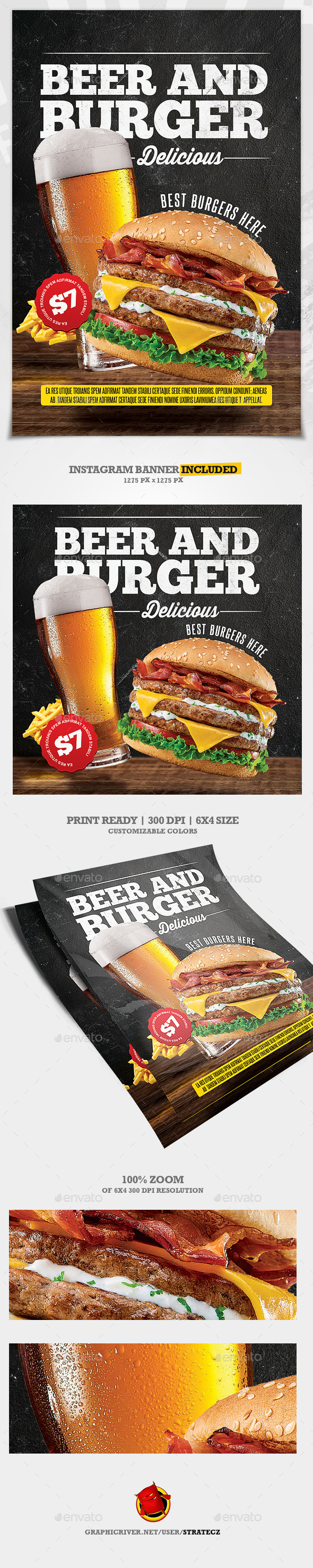 Burger Food Flyer / Burger House - Print Templates