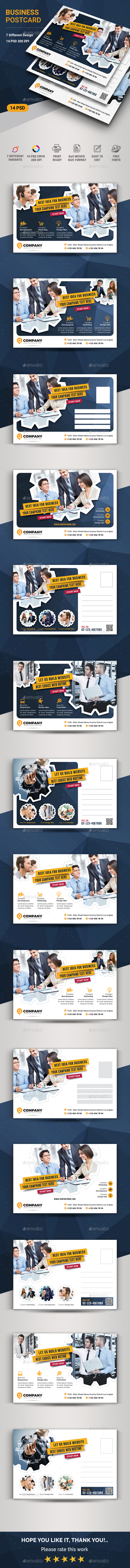 Business Postcard - Cards & Invites Print Templates