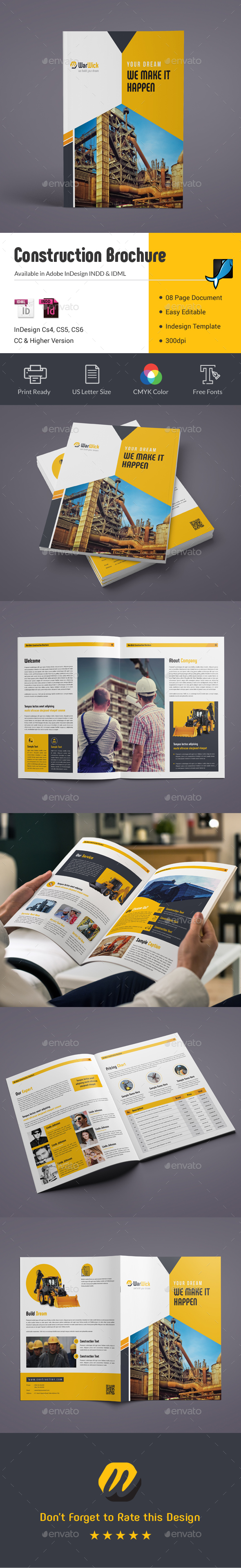08 Pages Construction Brochure - Corporate Brochures