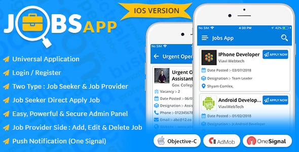 iOS Jobs App
