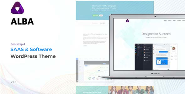 Alba - Startup/Software WordPress Theme - Software Technology
