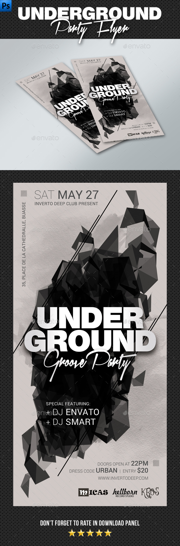 DL Underground Groove Flyer - Clubs & Parties Events