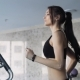 Beautiful Young Woman Exercising Run in Fitness Gym - VideoHive Item for Sale