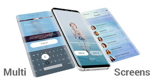Multi-Screens Mock-ups - Apps UI Presentations