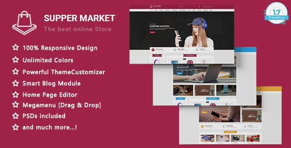 Image of SuperMarket - Shopping Responsive Prestashop 1.7 Theme