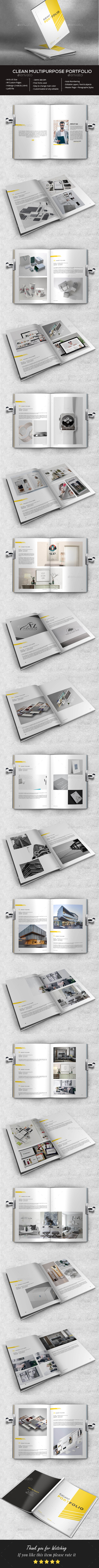 Clean Portfolio - Portfolio Brochures