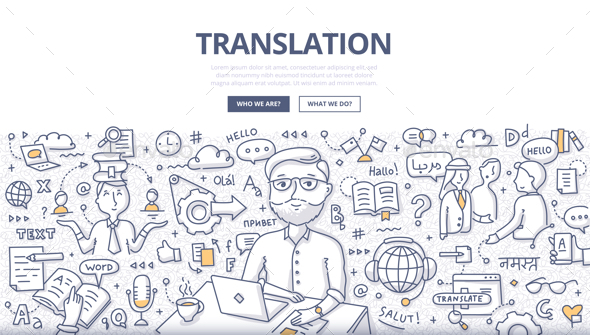 Translation Doodle Concept - Concepts Business