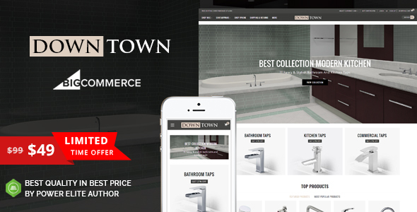 Image of Down Town - Multipurpose Stencil BigCommerce Theme