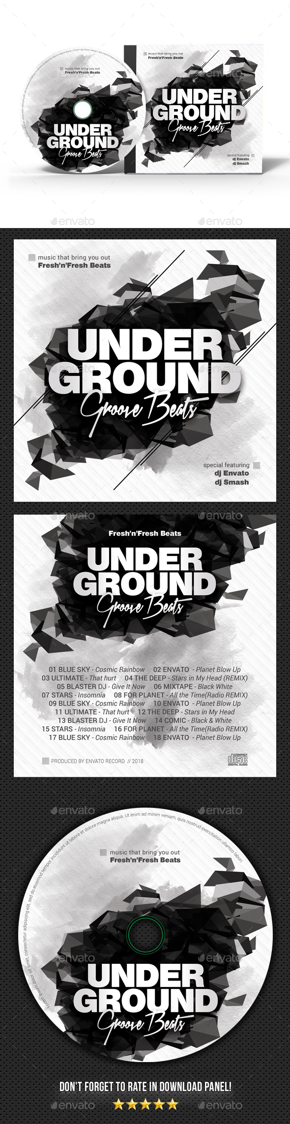 Underground Groove CD Cover - CD & DVD Artwork Print Templates