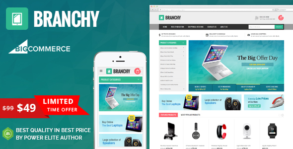 Image of Branchy - Multipurpose Stencil BigCommerce Theme
