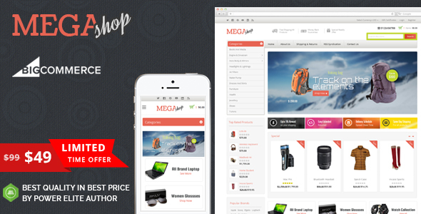 Mega Shop - Multipurpose Stencil BigCommerce Theme - BigCommerce eCommerce