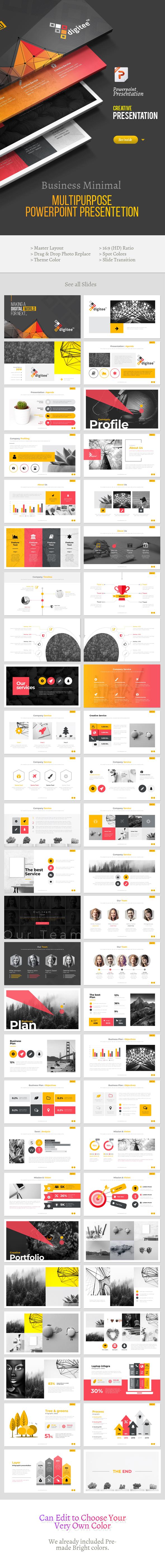 Digitee Business Multipurpose Powerpoint Template - Business PowerPoint Templates