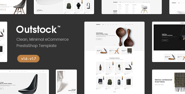 Image of Outstock - Clean, Minimal Prestashop 1.6 - 1.7 Furniture Theme