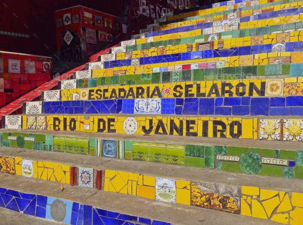 Selaron Steps in Rio - Stock Photo - Images