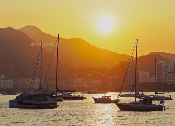 Botafogo Bay in Rio de Janeiro - Stock Photo - Images