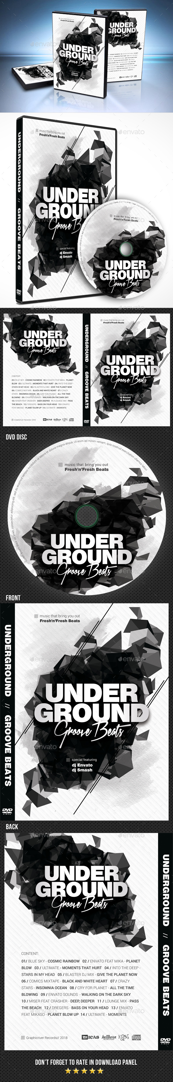 Underground Groove DVD Cover - CD & DVD Artwork Print Templates