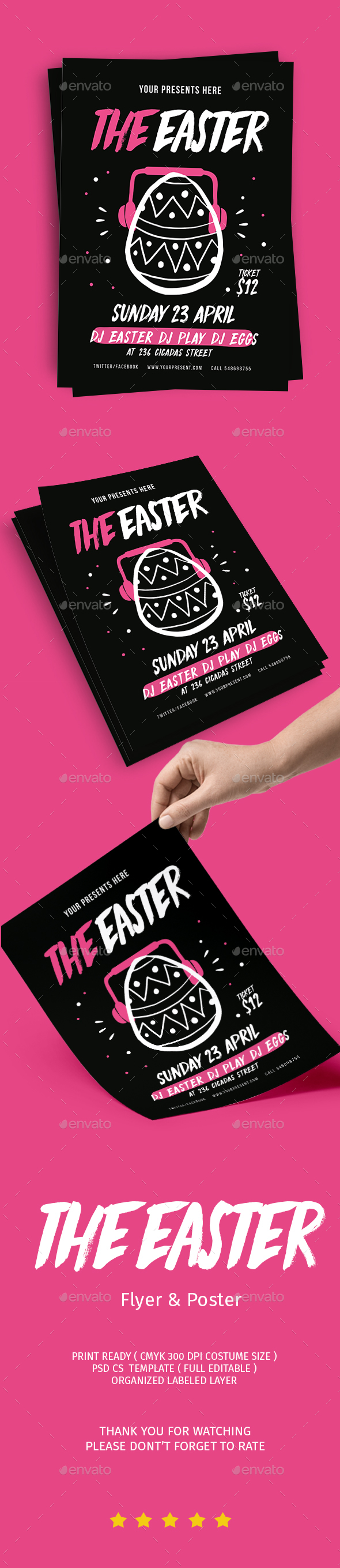 The Easter Party - Flyers Print Templates