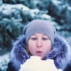 Girl Blows Snow From Her Hands, Winter Shot, Cold - VideoHive Item for Sale