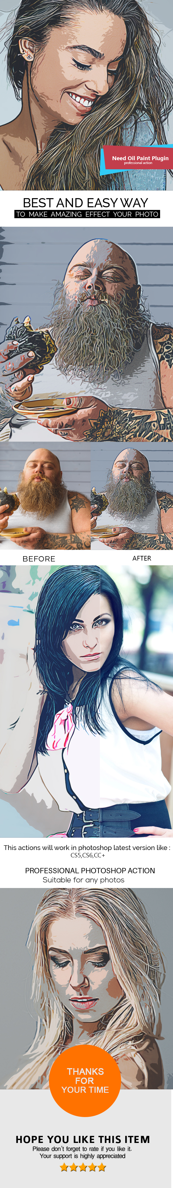 Abstract Cartoon Painting Photoshop Action - Photo Effects Actions