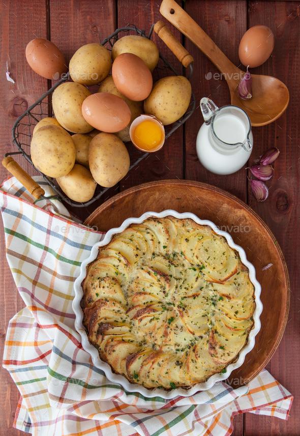 Potato gratin - Stock Photo - Images