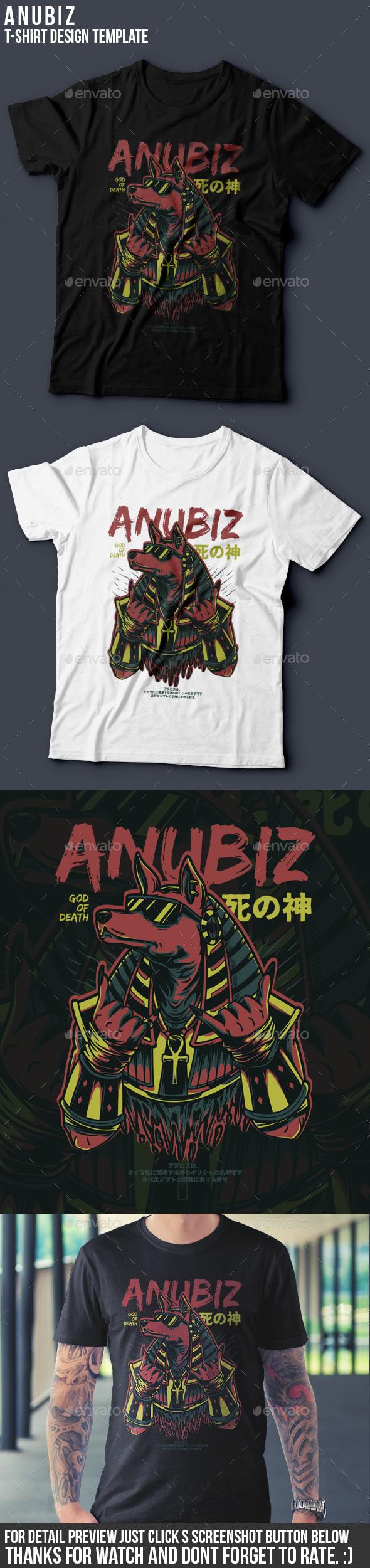 Anubiz T-Shirt Design - Grunge Designs