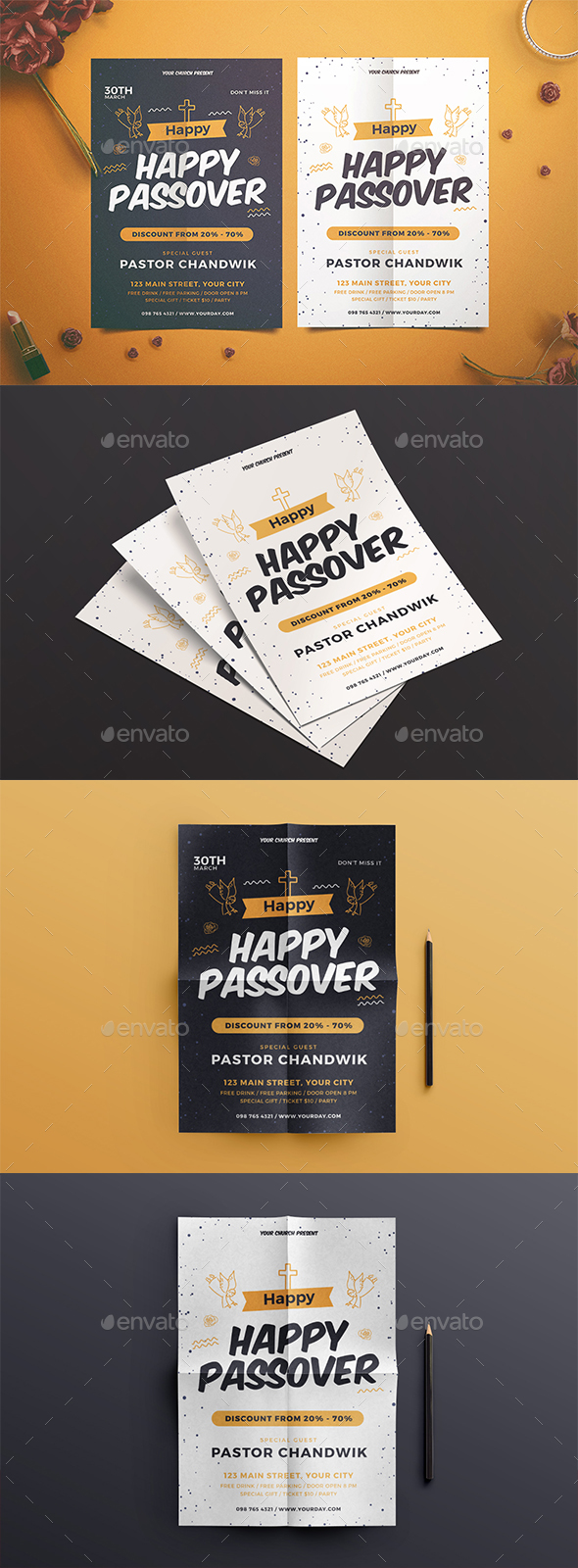 Happy Passover Flyer - Events Flyers