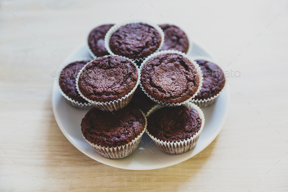 Chocolate cupcakes - Stock Photo - Images