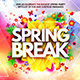 Spring Break Flyer Template Vol.1