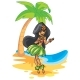 Hula Girl Illustration - GraphicRiver Item for Sale