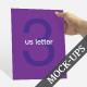US Letter Flyer / Resume / Brochure Mockups